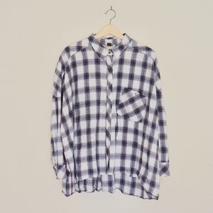 Free People Tops - Free People/We The Free Oversized Plaid ButtonDown